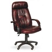 продам кресло крутящееся кожаное PRADO Black