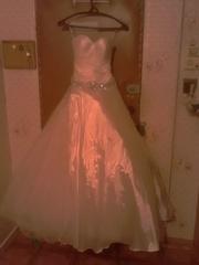 продам свадебное платье цвет шампанского
