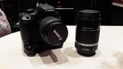 Canon 550d   18-55   55-250mm 1.1m/3.6ft   Батарейный блок